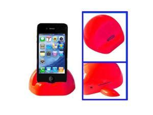 Apple Shaped Universal Docking Charger Holder for iPhone 4 & 4S, iPad, iPhone 3G/3GS  (Red)