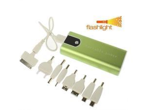 5200mAh Metal Shell Mobile Power Bank External Battery with LED Flashlight for iPhone 4 & 4S / iPhone 3GS / 3G / Other Mobile Phones  (Green)