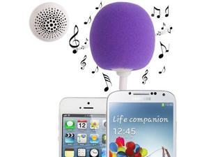 3.5mm Audio Dock / Mini Stereo Speaker, Built-in Rechargeable Battery, Suitable for All Devices with 3.5mm Audio Jack (Purple)