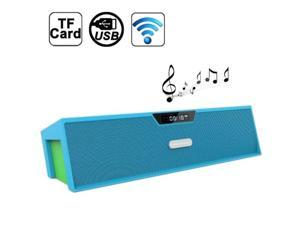 Nizhi Sardine Best HIFI Bluetooth Stereo Speaker with FM Radio Amplifier Micro SD TF Card, SDY-019  (Blue + Green)