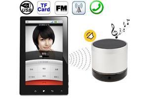 A60, HiFi Smart Bluetooth Speaker with Speakerphone & Read Calling Phone Number, Support TF Card & Support FM  (Silver)