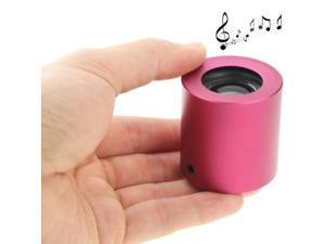 WB-57 Metal Mini Portable Bluetooth Speaker for Mobile Phone / MP3 / Computer / Tablet PC, Support AUX (Magenta)