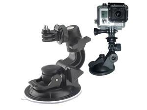 ST-72 9cm Diameter Car Window Plastic Cup Suction Mount + Tripod Holder Gadget For GoPro Hero 4 / 3+ / 3 / 2 / 1 (Black)