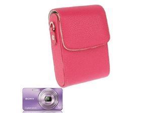 Litchi Texture Universal Mini Digital Leather Camera Bag, Size: 112x80x40mm  (Watermelon Red)