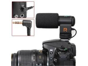 Mic-109 Directional Stereo Microphone with 90 / 120 Degrees Pickup Switching Mode for DSLR & DV Camcorder (Black)