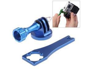 Camera Tripod Mount Adapter + Metal Standard Long Screw + Screw Rod Wrench for GoPro Hero 4 / 3+ / 3 / 2 / 1 (Blue)