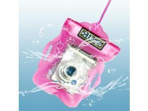 Bingo Waterproof Bag for Digital Camera, Size: 125 x 115 mm, Lens Dia. / Length: 55 / 26 mm (Pink)