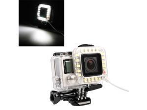USB Lens Ring LED Flash Light Shooting Night for GoPro Hero 4 / 3+