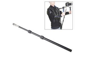 Retractable Shoulder Mount DSLR Rig Support Rod with Belt Pocket for Video Camera Camcorder  (UF-001)