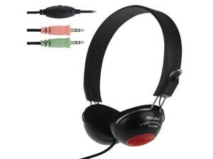 OVLENG OV-L708MV Universal Stereo Headset with Mic and Volume Control Key for Computer, Cable Length: 2m (Black)