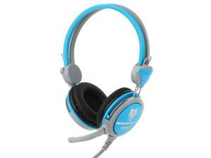 Universal Stereo Headset with Mic for Computer, Cable Length: 1.5m (Blue)