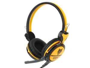 Universal Stereo Headset with Mic for Computer, Cable Length: 1.5m (Yellow)
