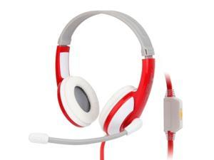 Universal Stereo Headset with Mic for Computer, Cable Length: about 2m  (Red + White + Grey)