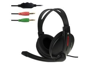 OVLENG S444 Universal Stereo Headset with Mic and Volume Control Key for Computer, Cable Length: 1.8m (Black)