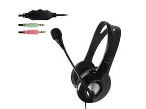 OVLENG X14 Universal Stereo Headset with Mic and Volume Control Key for Computer, Cable Length: 1.8m (Black)