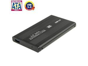 High Speed 2.5 inch HDD SATA External Case, Support USB 3.0 (Black)