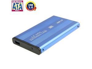 High Speed 2.5 inch HDD SATA External Case, Support USB 3.0 (Blue)