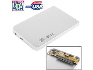 2.5 inch SATA HDD External Case, Size: 126mm x 75mm x 13mm  (Silver)