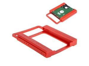 2.5 inch to 3.5 inch SSD HDD Notebook Hard Disk Drive Mounting Bracket Adapter Holder Hot Search (Red)