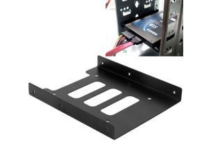 SSD HDD 2.5 inch to 3.5 inch Converter Hard Drive Metal Bracket Adapter Holder (Black)