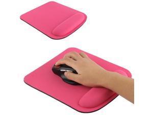 Cloth Gel Wrist Rest Mouse Pad (Magenta)