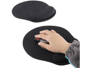 Cloth Gel Wrist Rest Mouse Pad (Black)