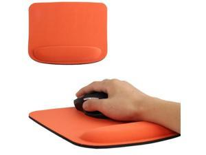 Cloth Wrist Rest Mouse Pad  (Orange)