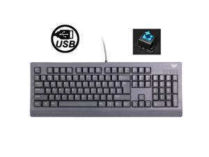 Aula Machine Royal Gramma Basslet Series Wired USB Multi-media Silent / Non-slip Shaft Game Mechanical Keyboard (Grey)
