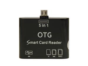 5 in 1 OTG Smart Card Reader for Samsung Galaxy S3 / S4 / Note / Note II / Note III / Tab 3 / Nokia N8 etc
