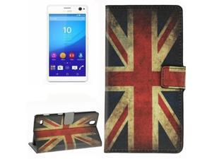 Retro UK Flag Pattern Horizontal Flip Leather Case with Card Slots & Wallet & Holder for Sony Xperia C4