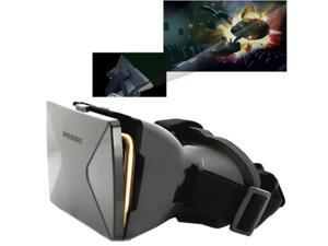 3D Cardboard Head Mount Plastic Virtual Reality 3D Video Glasses for 6.0 inch Android iOS Smartphone (Black)
