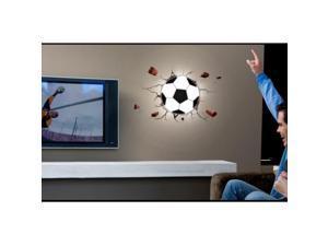 Wall Decor 3D Night Light Football 3D DIY LED Night Light with DIY Wallpaper for Bedroom Living Room, Random Delivery