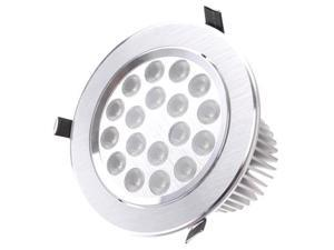 18W / 1620 Luminous High Quality Aluminum Material Warm White Light LED Energy Saving Down Light with LED Driver  (AC85V - 265V)