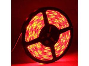 5050 SMD Epoxy Waterproof Red LED Light Strip with 12V 5A Power Supply, 30 LED/m and Length: 5m