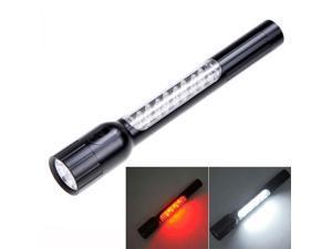 24 + 7 LED 3-Mode White + Red light Multi-functional Flashlight  (Black)