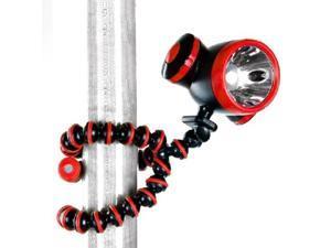 Digital Camera Flexible Joints Tripod Stand + LED Flashlight
