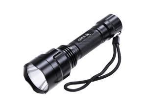 KX-C8 CREE XR-E Q5 600LM 5-Mode White Flashlight (Black)