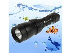 CREE 7090XR-E-Q5-WB High Power LED Diving Flashlight  (Diving Depth: 100m)