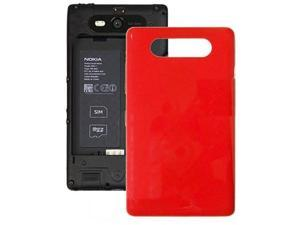 High Quality Housing Battery Back Cover + Side Buttom Replacement for Nokia Lumia 820 (Red)