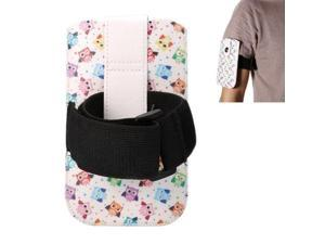 4.7 Inch Universal Lovely Cartoon Owls Pattern Armband Lether Case / Waist Bag for iPhone 6 & Samsung Galaxy S4 / i9500 & Samsung Galaxy SIII, Armband Length: 35.5cm