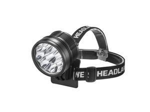 SHARP EAGLE ZQ-L2 9 x CREE XML- L2 5-Mode 10800lm IP x 6 LED Headlight / Bicycle Light (Black)