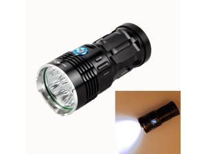 LT-8*CREE-XM-L2 8 CREE-XM-L2 9600LM IPX6 3-Mode White Light Flashlight (Black)