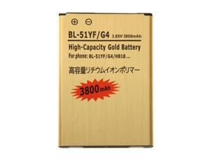 3800mAh High Capacity Gold Rechargeable Li-Polymer Battery for LG G4 / H818 / BL-51YF