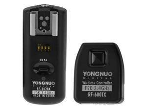 YONGNUO RF-602/N Wireless Flash Trigger Transmitter + Receiver Set with 3.5mm PC Sync Cord for Nikon Camera (Black)