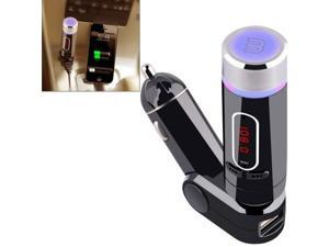 FM28B Detachable Bluetooth Car FM Transmitter with Remote Control, Support TF Card Music Play / BT Hands-free Answer Phone