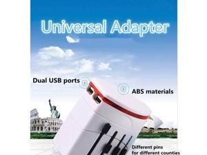 Universal International Multi Travel Plug Adapter 2 USB Charger
