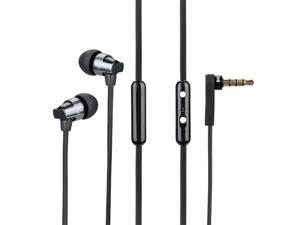 AWEI ES-860hi Stereo in-ear Earphones Headsets Headphones With Mic Button For Cell Phone MP3 (Black)