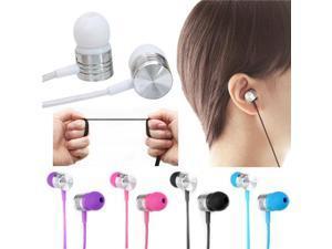 3.5mm Mic Headset For iPhone Samsung HTC MP3 In Ear Stereo Earbud Headphone Earphone (Blue)