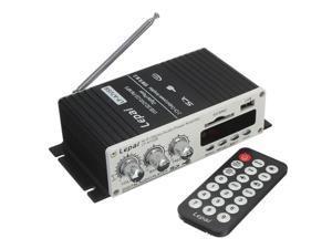Lepai LP-A7 USB Mini Car Power Amplifier USB SD DVD CD FM MP3 With Remote Controller