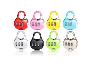 3 Dial Resettable Number Combination Travel Luggage Safe Code Padlock Lock (Red)